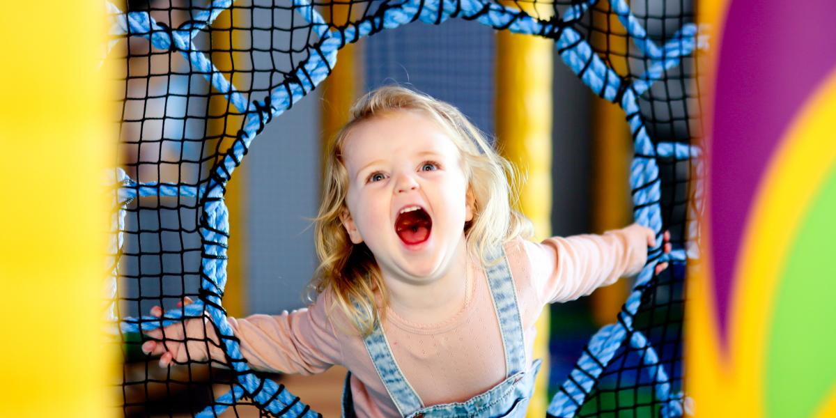 Girl in the soft play at Ards Blair Mayne