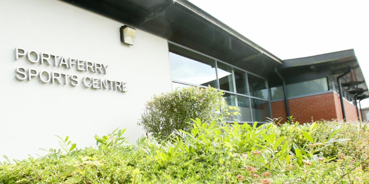 Photo of front of Portaferry Sports Centre
